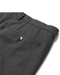 dunkelgraue Wollanzughose mit Karomuster von Hugo Boss