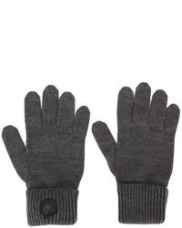 dunkelgraue Wollhandschuhe von DSQUARED2