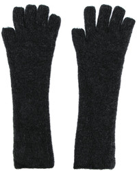 dunkelgraue Wollhandschuhe von Isabel Benenato
