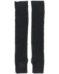 dunkelgraue Wolllange handschuhe von MM6 MAISON MARGIELA
