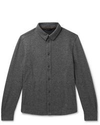 dunkelgraue Wollshirtjacke von Loro Piana