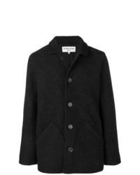 dunkelgraue Wollshirtjacke von YMC