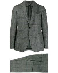 dunkelgrauer Anzug mit Karomuster von Tagliatore