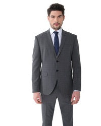 dunkelgrauer Anzug mit Schottenmuster von SteffenKlein