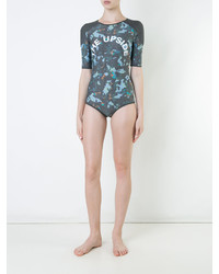 dunkelgrauer bedruckter Badeanzug von The Upside