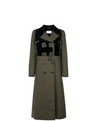 dunkelgrauer bedruckter Mantel von Maison Margiela