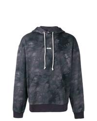 dunkelgrauer bedruckter Pullover mit einem Kapuze von G-Star RAW
