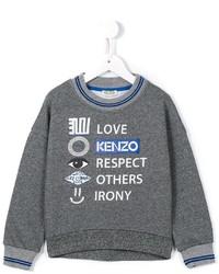 dunkelgrauer bedruckter Pullover von Kenzo
