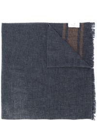 dunkelgrauer bedruckter Schal von Brunello Cucinelli