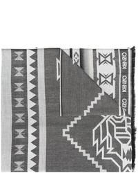 dunkelgrauer bedruckter Schal von Kenzo