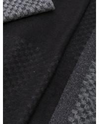 dunkelgrauer bedruckter Seideschal von Canali