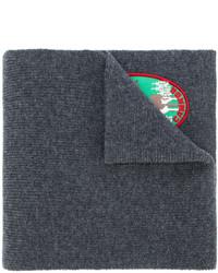 dunkelgrauer bestickter Schal von DSQUARED2