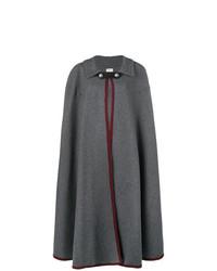 dunkelgrauer Cape Mantel von Hermès Vintage