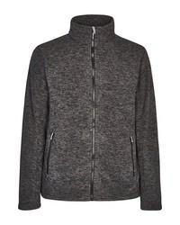 dunkelgrauer Fleece-Pullover mit einem Reißverschluß von Killtec