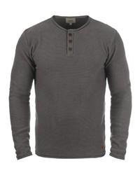 dunkelgrauer Henley-Pullover von Redefined Rebel