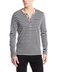 dunkelgrauer Henley-Pullover von Tom Tailor