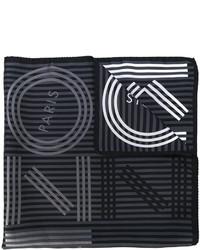 dunkelgrauer horizontal gestreifter Schal von Kenzo