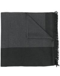 dunkelgrauer horizontal gestreifter Schal von Versace