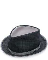 dunkelgrauer Hut mit Schottenmuster von Etro