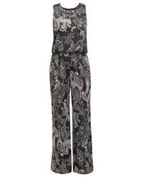 dunkelgrauer Jumpsuit mit Paisley-Muster von Anna Field