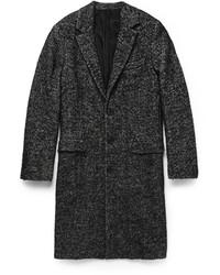 dunkelgrauer Mantel mit Fischgrätenmuster von Ami