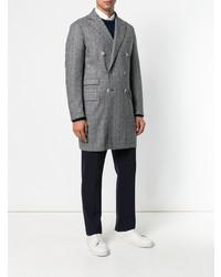 dunkelgrauer Mantel mit Fischgrätenmuster von Eleventy