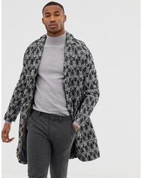 dunkelgrauer Mantel mit Fischgrätenmuster von Harry Brown