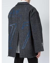 dunkelgrauer Mantel mit Fischgrätenmuster von A-Cold-Wall*