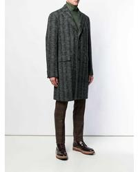 dunkelgrauer Mantel mit Fischgrätenmuster von Etro