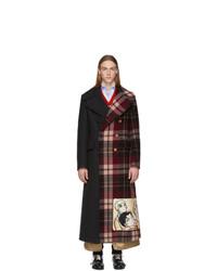 dunkelgrauer Mantel mit Schottenmuster von Gucci