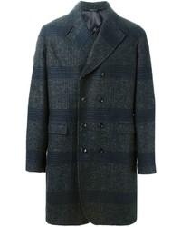 dunkelgrauer Mantel mit Schottenmuster von Tonello