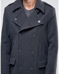 dunkelgrauer Mantel von Weekday