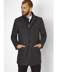 dunkelgrauer Mantel von S4 JACKETS