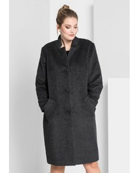 dunkelgrauer Mantel von Sheego