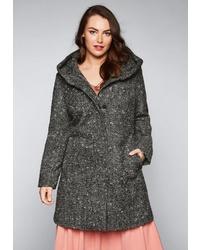 dunkelgrauer Mantel von SHEEGO STYLE