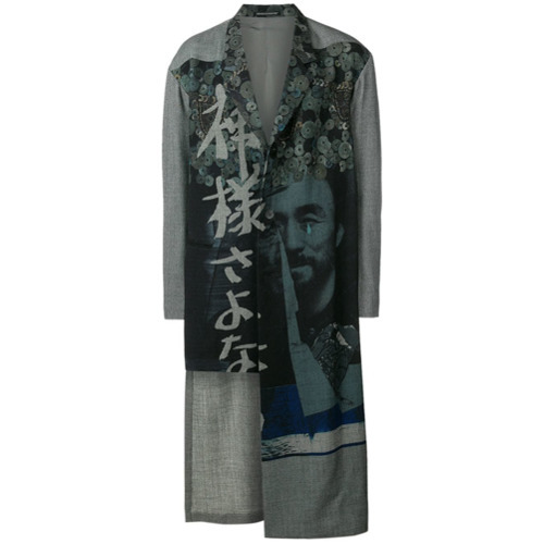 dunkelgrauer Mantel von Yohji Yamamoto