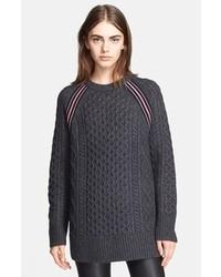 dunkelgrauer Oversize Pullover