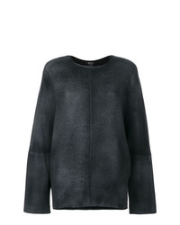 dunkelgrauer Oversize Pullover von Avant Toi