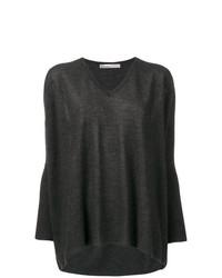 dunkelgrauer Oversize Pullover von Gentry Portofino