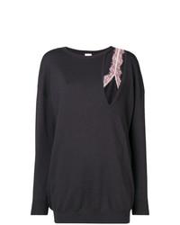 dunkelgrauer Oversize Pullover von Pinko