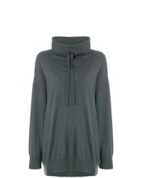 dunkelgrauer Oversize Pullover von Stella McCartney