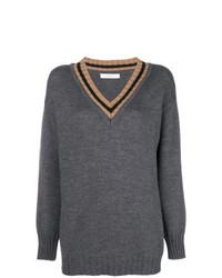 dunkelgrauer Oversize Pullover von Tela
