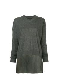dunkelgrauer Oversize Pullover von Uma Wang