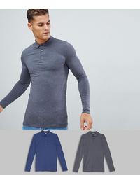 dunkelgrauer Polo Pullover von ASOS DESIGN
