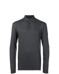 dunkelgrauer Polo Pullover von BOSS HUGO BOSS