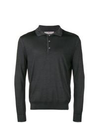 dunkelgrauer Polo Pullover von Canali