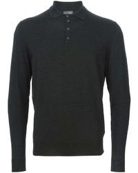 dunkelgrauer Polo Pullover von Drumohr
