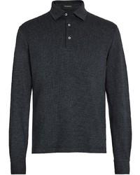 dunkelgrauer Polo Pullover von Ermenegildo Zegna