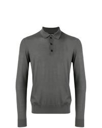 dunkelgrauer Polo Pullover von Giorgio Armani