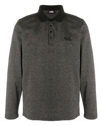 dunkelgrauer Polo Pullover von Karl Lagerfeld
